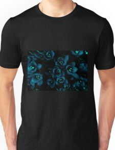 Glow in the night flowers Unisex T-Shirt
