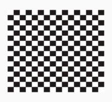 Small Black White Check Motorsport Race Flag Checkered Skirt Pillow Kids Tee