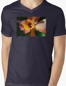 Floral Art - Intimate Orchid 3 - Sharon Cummings Mens V-Neck T-Shirt