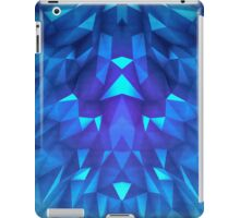 Deep Blue Collosal Low Poly Triangle Pattern -  Modern Abstract Cubism  Design iPad Case/Skin