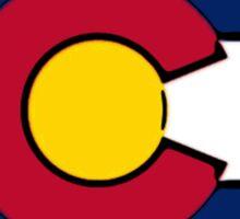 Ohio outline Colorado flag Sticker