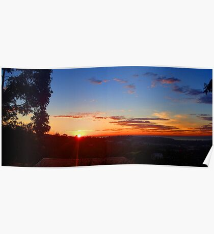 Dawn over Sydney Northern Beaches Poster