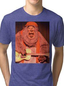 Big Bear Big Al Blood On The Saddle Country Bears Bear Tri-blend T-Shirt