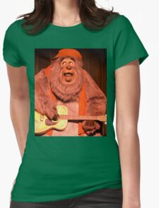 Big Bear Big Al Blood On The Saddle Country Bears Bear Womens Fitted T-Shirt
