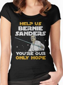 star wars bernie Women's Fitted Scoop T-Shirt