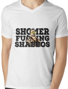Shomer Shabbos- the big lebowski Mens V-Neck T-Shirt