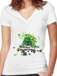 Saint patrick s day crafts art Women's Fitted V-Neck T-Shirt