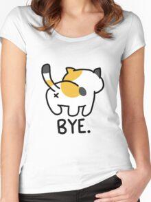 Neko Atsume Sass Women's Fitted Scoop T-Shirt