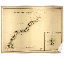 American Revolutionary War Era Maps 1750-1786 894 Sketch of the road from Black Horse to Crosswick Sketch of Allen's Town Poster