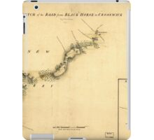 American Revolutionary War Era Maps 1750-1786 894 Sketch of the road from Black Horse to Crosswick Sketch of Allen's Town iPad Case/Skin