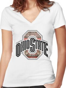 Buckeython OSU Logo Women's Fitted V-Neck T-Shirt