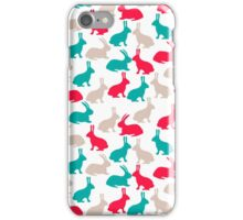 Spring easter rabbits iPhone Case/Skin