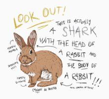Shark Bunny Baby Tee