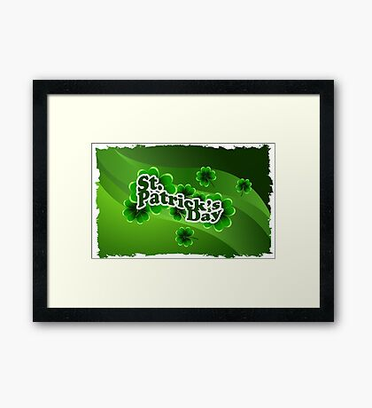 patricks day abstract Framed Print