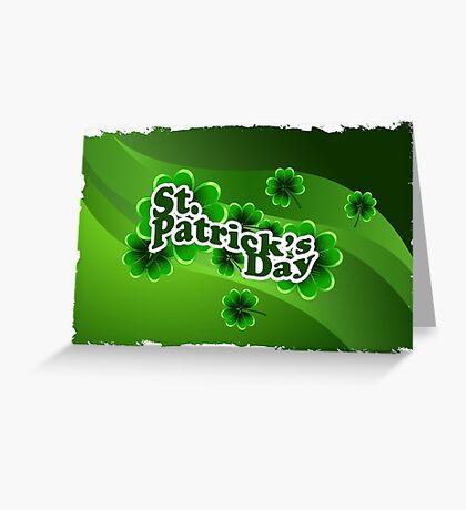 patricks day abstract Greeting Card
