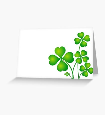 Patricks day clover leaves Greeting Card