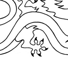 Dragonsworn (Black) Sticker