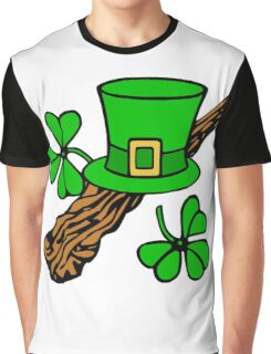 patricks day hat and shillelagh Graphic T-Shirt