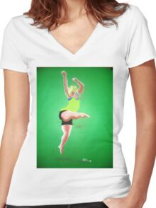 Dance is Freedom Women's Fitted V-Neck T-Shirt