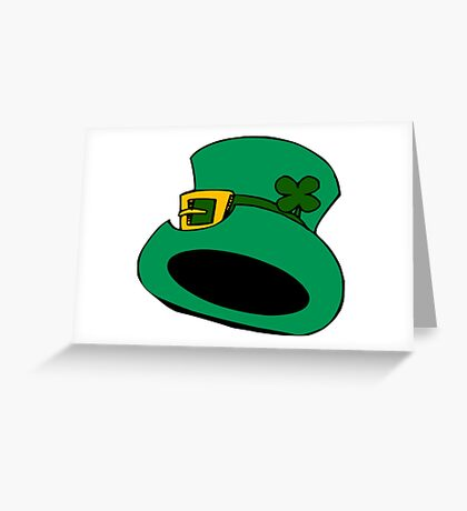patricks day hat Greeting Card