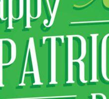 patricks day irish flag Sticker