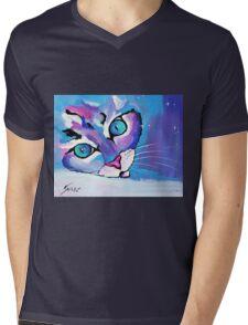 Star Kitten - Animal Art by Valentina Miletic Mens V-Neck T-Shirt