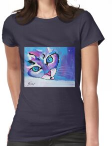 Star Kitten - Animal Art by Valentina Miletic Womens Fitted T-Shirt
