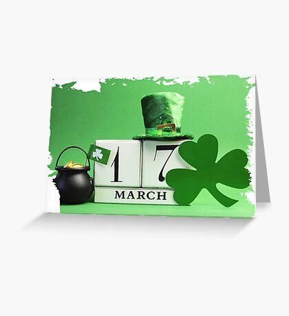 patricks day March 17 Greeting Card