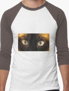 Siamese Cats Eyes Look Deep Men's Baseball ¾ T-Shirt
