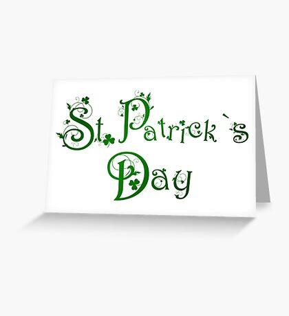 patricks day hat and shillelaghSaint Patricks Day Greeting Card