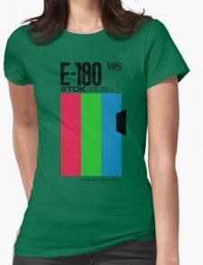 Retro VHS tape vaporwave aesthetic Womens Fitted T-Shirt