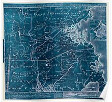 American Revolutionary War Era Maps 1750-1786 977 To the Hone Jno Hancock Esqre president of ye Continental Congress this map of the seat of civil war in Inverted Poster