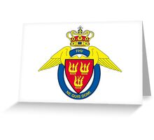 Flyverhjemmeværnet (Air Force Home Guard) Logo Greeting Card