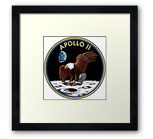 Apollo 11 emblem Framed Print