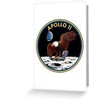 Apollo 11 emblem Greeting Card