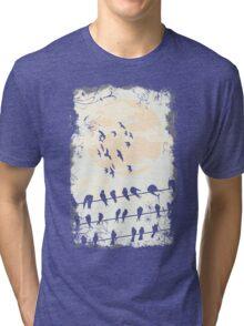 Birds Black Tri-blend T-Shirt
