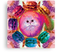 Burger Floof Kitty Cheese Baby Canvas Print