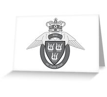 Flyverhjemmeværnet (Air Force Home Guard) Logo Sort (Black) Greeting Card