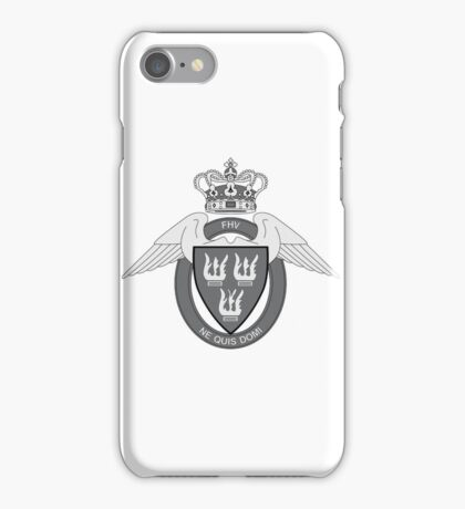 Flyverhjemmeværnet (Air Force Home Guard) Logo Sort (Black) iPhone Case/Skin