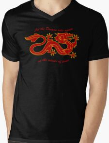 The Dragon Banner (Color) Mens V-Neck T-Shirt