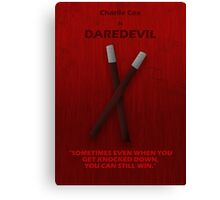 Daredevil Character Poster Canvas Print