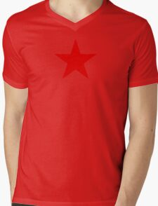 Communist Red Star Mens V-Neck T-Shirt