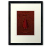 Speedy Character Poster Framed Print