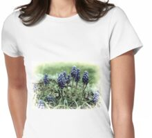 Grapes Hyacyinths........Cornwall UK Womens Fitted T-Shirt