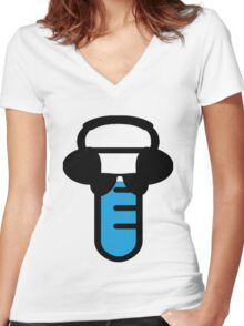 Rad Science Women's Fitted V-Neck T-Shirt