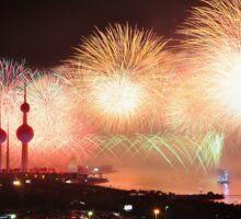 Kuwait Fireworks Display Sticker