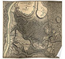 American Revolutionary War Era Maps 1750-1786 777 Plan of the encampment and position of the army under His Excelly Lt General Burgoyne at Bræmus Heights on Poster
