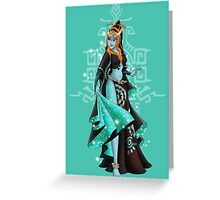 Gaming Princess: Midna (turquoise) Greeting Card
