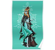 Gaming Princess: Midna (turquoise) Poster