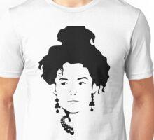 Victorian Female Silhouette Unisex T-Shirt